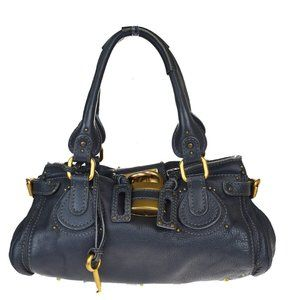 Chloé Paddington Leather Shoulder Bag Black